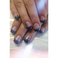 French Style Acrylic Set with Cheetah Feature Nails