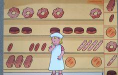 Broodrek aanvullen Preschool Lessons, In Kindergarten, Bakery, Crafts For Kids, Restaurant, Education, Projects, Prints, Convenience Store
