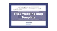FREE Wedding Blog Template for Photographers
