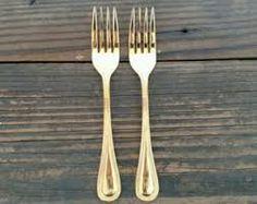 Image result for gold cake forks