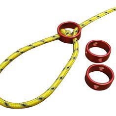 2xAXEMAN Circular Aluminum alloy parachute cord fastener Adjust tent rope length