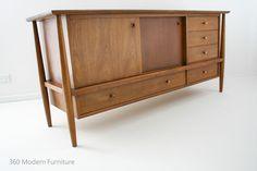 Mid Century Sideboard Credenza Cabinet Buffet Vintage Retro Scandi 60s Walnut   360 Modern Furniture