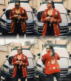 Actress Tayo Sobola shows off her expensive Range Rover