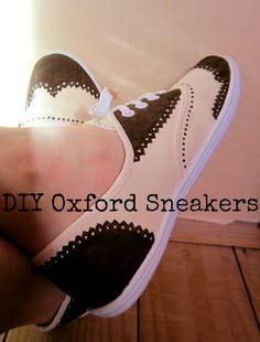 DIY oxford sneakers - jewelry&stuff by one creative buny