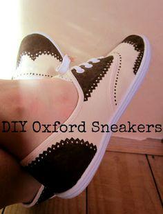 DIY oxford sneakers - jewelry&stuff by one creative buny