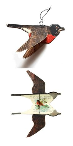 """""""The Robin Book"""" by H. Robin Book - Boylston Dummer - 14 typed pages with hand painted illustrations throughout. Altered Books, Altered Art, Book Art, Artist's Book, Book Crafts, Paper Crafts, Ideias Diy, Paper Book, Kirigami"""