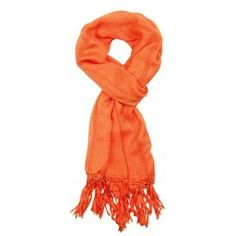 """Add a pop of color to your everyday ensemble with this chic scarf, offering versatile style for spring.   Product: ScarfConstruction Material: RayonColor: TangerineFeatures:  Light and layerableDetailed with hemstitching and a knotted fringe Dimensions: 22"""" x 72""""Cleaning and Care: Dry cleanShipping: This item ships small parcelExpected Arrival Date: Between 04/09/2013 and 04/17/2013Return Policy: This item is final sale and cannot be returned"""