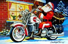 toy run santa biker idea