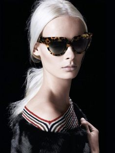 5f106cd3f908 Prada Eyewear SS 2013 tortoiseshell frames sunglasses ... seen in June 2013  Vogue Sunglasses