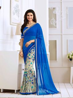 RoyalBlue Exclusive Designer Fancy Saree