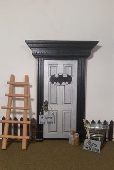 Unlock the door to your childs imagination! These magical little fairy doors serve as a passageway between our world and any fantasy world they wish! Doors can be customized to suit boys or girls. Doors can be used by the Tooth fairy, elves, Santa, trolls, etc. Kids can send and receive fairy mail using the metal bucket (included), of course parent participation is required!  Parents should feel free to use the door to their advantage since the fairies or superheroes are always watching…