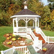 I've always dreamed of having a big beautiful gazebo like this one!