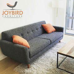 Hughes sofa in Cordova Eclipse fabric
