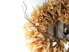 coffee filter wreath | Coffee Filter Wreath by Craft Berry Bush