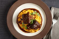Five-Spice Short Ribs with Carrot-Parsnip Pur