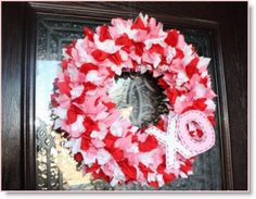 Fabric Valentine's Day Wreath ♥ http://felting.craftgossip.com/2014/01/20/valentines-day-wreath-tutorial/