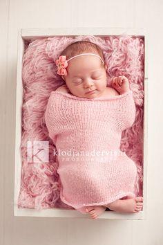 Newborn girl setup.