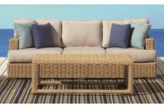 Leucadia Collection Patio Sofa And Coffee Table   Sunset West Outdoor  Furniture