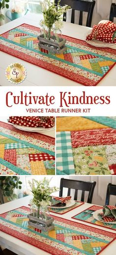 Quilted Table Toppers, Quilted Table Runners, Quilted Table Runner Patterns, Patchwork Table Runner, Project Table, Creative Arts And Crafts, Shabby Fabrics, Quilt As You Go, Sand Crafts