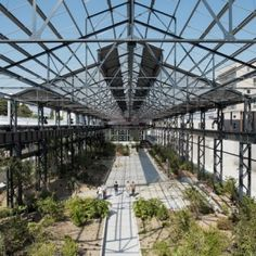 Foundries' Garden by ADH Doazan+Hirschberger « Landscape Architecture Platform Landscape And Urbanism, Landscape Architecture Design, France Area, Urban Intervention, Covered Garden, Pedestrian Bridge, Urban Farming, Contemporary Landscape, Travel Themes