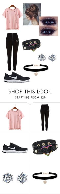 """Ratchet's girlfriend"" by penguinprincess1704 ❤ liked on Polyvore featuring River Island, NIKE and Betsey Johnson"
