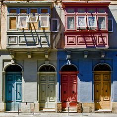 Doors & windows, Malta, by gigilivorno, via Flickr