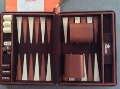Travel Portable Backgammon Zip-up Vinyl Carrying Case 9x7 closed Skor Mor Brand #SkorMor