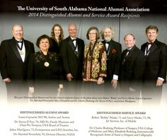 Receiving the Distinguished Alumni Award at University of South Alabama 2104. More at http://www.lauracayouette.com