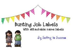 Super cute job labels for the colourful classroom. A range of jobs covered as well as blank labels to add your own jobs. EXTRA student name labels added.