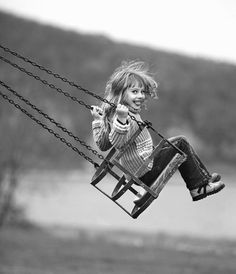 Child Portrait: kid, swing, black and white Old Photos, Vintage Photos, Adorable Petite Fille, Photo Images, Black N White, Beautiful Children, Belle Photo, Children Photography, Black And White Photography