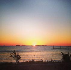 Romantic sunset in Isla Mujeres.