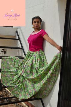 pink crop top with mint floral lehenga Floral Lehenga, Pink Crop Top, Fashion Studio, Mint, Sari, Crop Tops, Skirts, Saree, Skirt