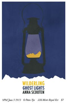 poster for band wilderling by alex begin