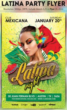 Latina Party Flyer
