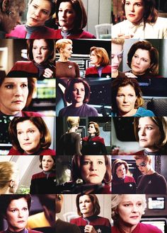 Star Trek Voyager - Captain Kathryn Janeway (Kate Mulgrew) and Seven of Nine (Jeri Ryan) Wallpaper.