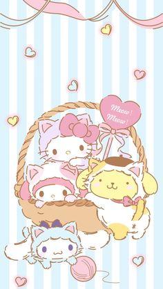 My Melody Wallpaper, Sanrio Wallpaper, Hello Kitty Wallpaper, Kawaii Wallpaper, Sanrio Boy, Sanrio Hello Kitty, Hello Kitty Pictures, Kitty Images, Cute Animal Drawings Kawaii