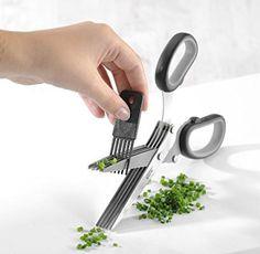 Gefu 12660 - Tijeras para hierbas aromáticas con limpiador