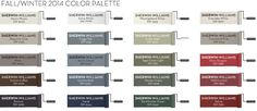 Pottery Barn Paint Fall/Winter 2014 Paint Colors. Some great ones!