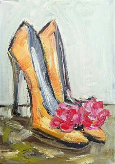 Colorful Shoe Print orange and pink by DevinePaintings on Etsy - Colorful Shoe Print orange and pink by DevinePaintings on Etsy Source by barbelfischbock - Wal Art, Shoe Art, Painted Shoes, Art Pictures, Painting Inspiration, Watercolor Art, Art Projects, Abstract Art, Canvas Art