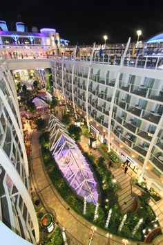 Central Park - a living garden at sea as seen from aboard Royal Caribbean International's Oasis Of The Seas!