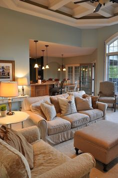 Favorite Paint Colors: family room/living room.....Palladian Blue