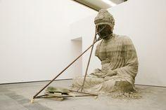 Zhang Huan - (Series: Berlin Buddha), Ash, Iron and Aluminium - Contemporary sacred art Chinese Contemporary Art, Contemporary Sculpture, Chinese Art, Contemporary Artists, Modern Art, Tibetan Art, Tibetan Buddhism, Art Sculpture, Buddha Sculpture