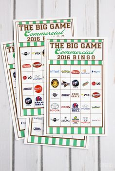 2016 Commercial Bingo