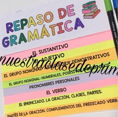 En nuestra clase de Primaria: Flipbook Repaso de Gramática 6º Spanish Teaching Resources, Sentence Structure, Unit Plan, Parts Of Speech, Interactive Notebooks, Task Cards, Math Centers, Lesson Plans, Sentences