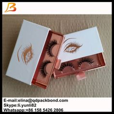 Taobao 2016 Hot Sale Custom Eyelash Packaging Box Wholesale / Luxury Private Label lashes packaging box