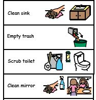 Kids Cleaning Bathroom Clipart