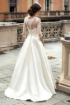 Jakie treny występują w sukniach ślubnych