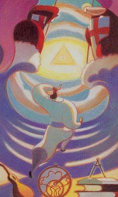 The World (Principalities) - Dante Tarot by Andrea Serio, Giordano Berti