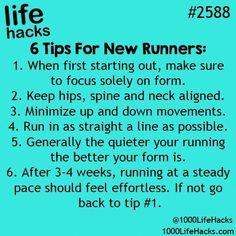 Ideas fitness tips facts life hacks for 2019 Running Tips, Xc Running, Running Everyday, Running Plan, Start Running, Health Challenge, School Looks, Simple Life Hacks, Home Workouts