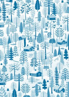 winter trees, wrapping paper by bjørn rune lie (via betty and dupree) Textile Prints, Textile Patterns, Color Patterns, Print Patterns, Textiles, Pattern Paper, Pattern Art, Wrapping Paper Design, Winter Trees